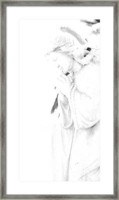 Pray Framed Print