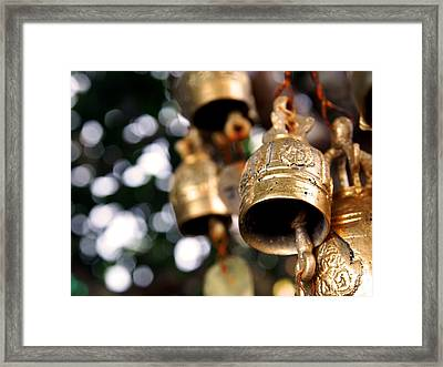 Prayer Bells Framed Print by Justin Woodhouse