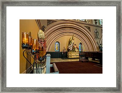 Prayer Candles At St. Joseph Church - New Orleans Framed Print by Andy Crawford