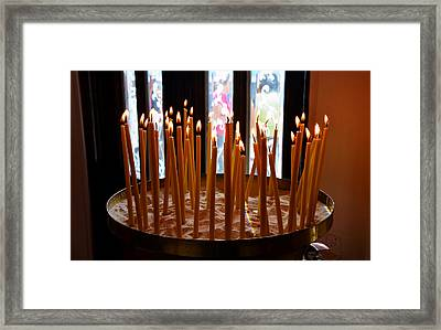 Prayer Candles Framed Print
