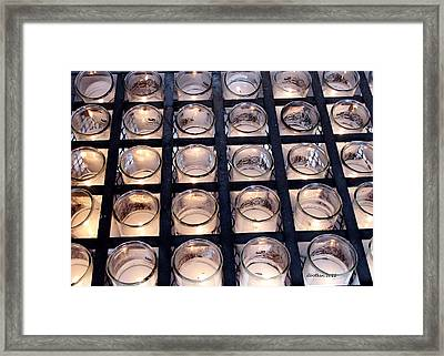 Framed Print featuring the photograph Prayer Candles by Dick Botkin