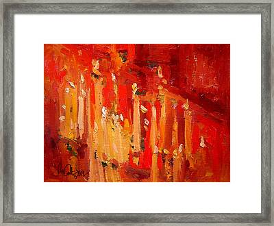 Prayer Candles Framed Print by R W Goetting