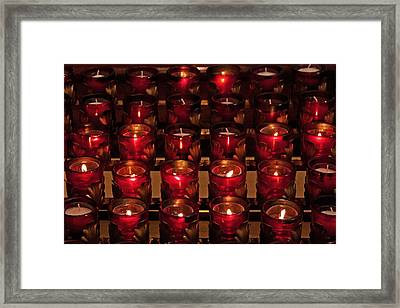 Prayer Candles Framed Print by Suzanne Stout