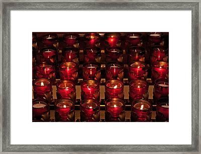 Prayer Candles Framed Print