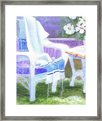Prayer Chair Framed Print