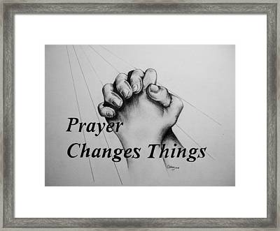 Prayer Changes Things Framed Print