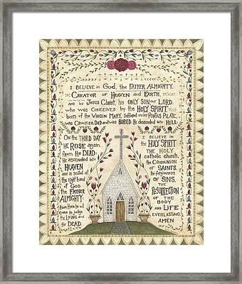 Prayer Framed Print by Cindy Shamp