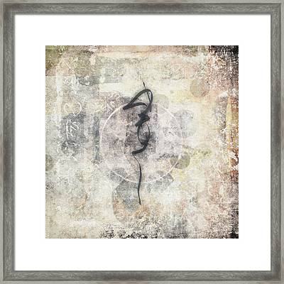 Prayer Flag 17 Framed Print by Carol Leigh