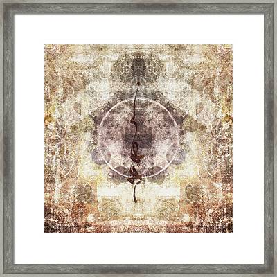Prayer Flag 25 Framed Print by Carol Leigh