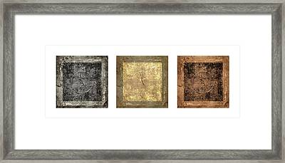 Prayer Flag Triptych Series Two Framed Print