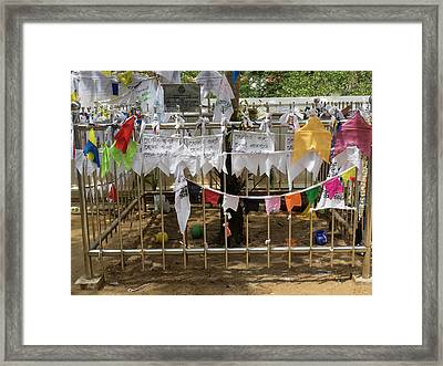 Prayer Flags At The Great Monastery Framed Print by Panoramic Images