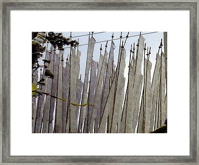 Prayer Flags Framed Print by Patrick Morgan