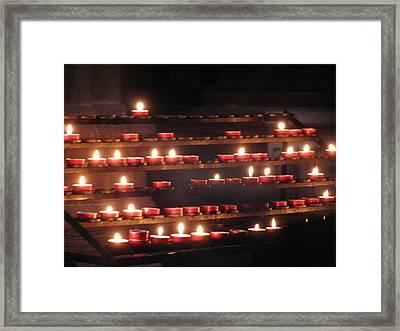 Prayer Lights Framed Print