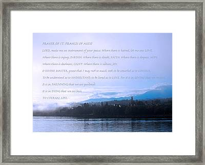 Prayer Of St. Francis Of Assisi Framed Print