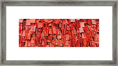 Prayer Offerings At A Temple, Dai Framed Print by Panoramic Images