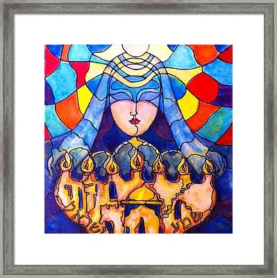 Prayer Framed Print by Rae Chichilnitsky