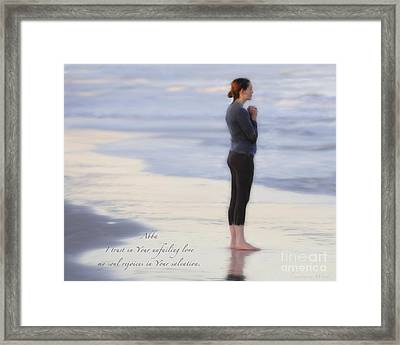 Prayer To Abba Framed Print by Constance Woods