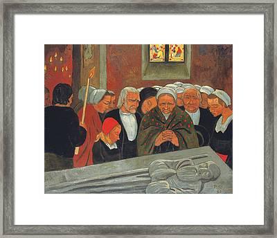 Prayer To Saint Herbot Framed Print by Paul Serusier