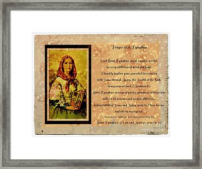 Prayer To St. Dymphna 2 Framed Print by Barbara Griffin
