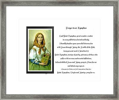 Prayer To St. Dymphna Framed Print by Barbara Griffin