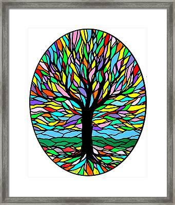 Prayer Tree Framed Print by Jim Harris