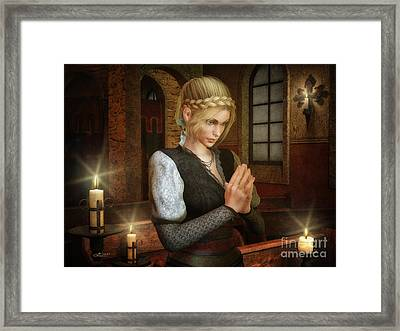 Prayerful Framed Print