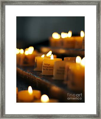 Prayers And Hope Framed Print