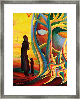 Prayers At The Tree Of Life Framed Print