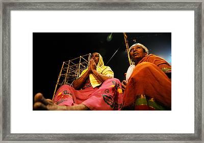 Prayers Framed Print by Money Sharma