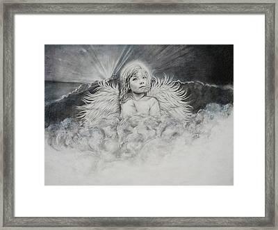 Prayers To An Angel Framed Print