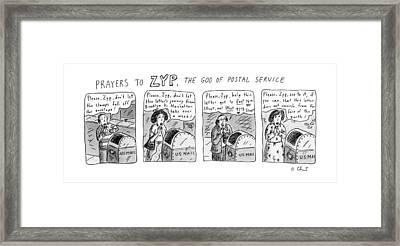 Prayers To Zyp Framed Print