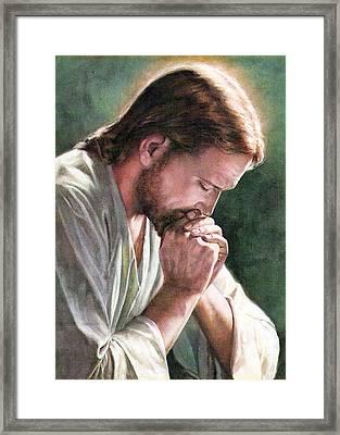 Praying Alone Framed Print