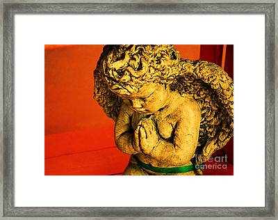 Praying Angel Framed Print by Susanne Van Hulst
