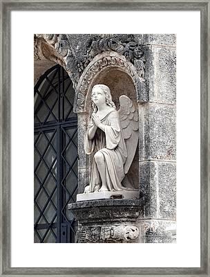 Praying Angel Framed Print by Terry Reynoldson