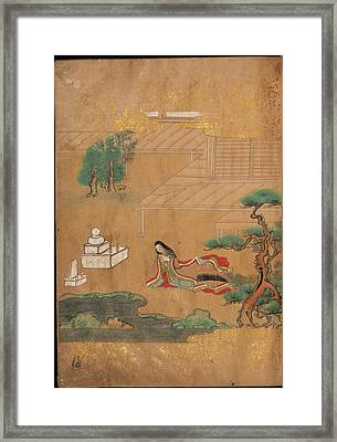 Praying At A Buddhist Altar Framed Print