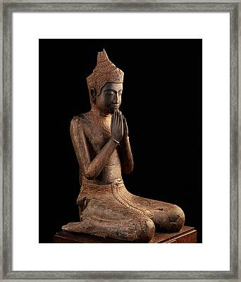 Praying Figure  Angkor Wat, 16th Centurynational Museum, Phnom Pheh Framed Print by Cambodian School