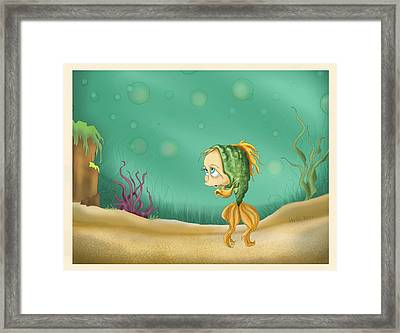 Praying Fish Framed Print by Hank Nunes