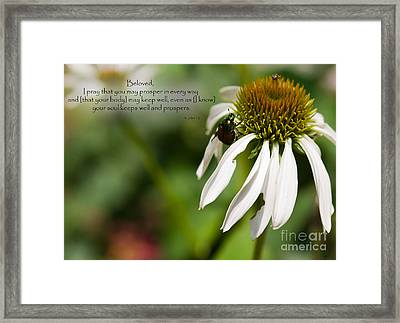 Praying For My Friend Framed Print by Sandra Clark