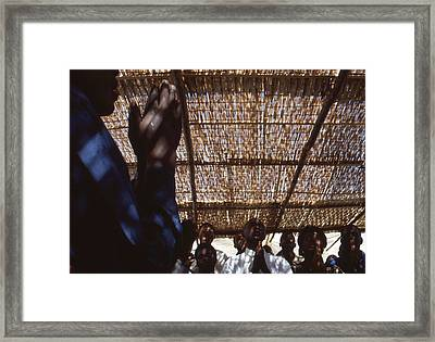 Praying For Peace Zaire Framed Print by Rolf Ashby