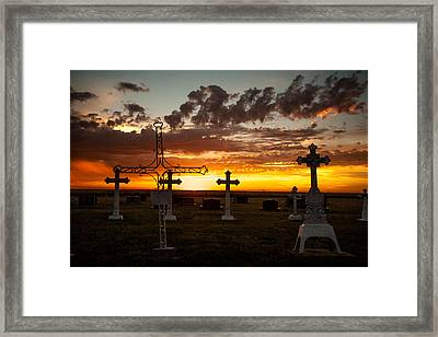 Framed Print featuring the photograph Bearing Our Crosses by Shirley Heier