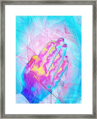 Praying Hands 20150302v1 Framed Print by Wingsdomain Art and Photography