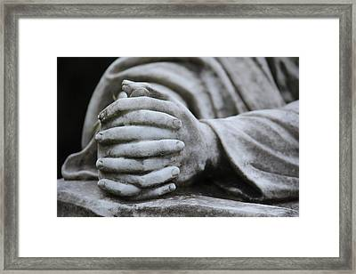 Framed Print featuring the photograph Praying Hands by Rowana Ray