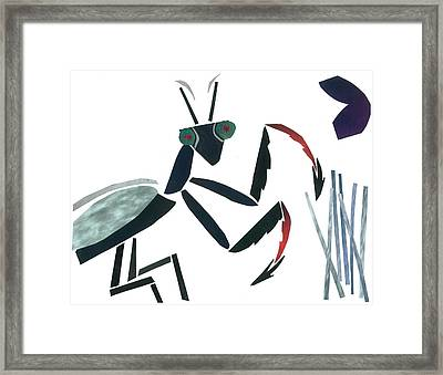 Praying Mantis Framed Print by Earl ContehMorgan