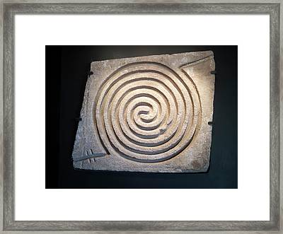 Pre-columbian Spiral Rock Carving Framed Print