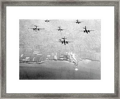 Pre-d-day Landings Bombings Framed Print by Us Air Force