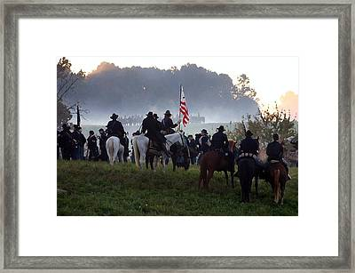Pre-dawn Battle - Perryville Ky Framed Print