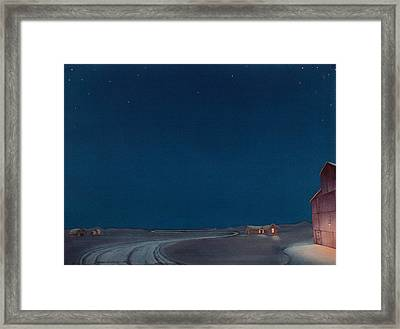 Pre-dawn On The Hi Line II Framed Print