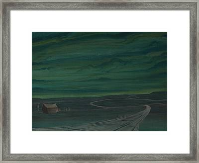 Pre-dawn On The Hi-line V Framed Print
