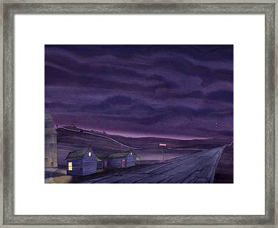 Pre-dawn On The Hi-line Vi Framed Print