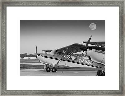 Pre-flight By The Light Of The Moon Framed Print by Phil Rispin